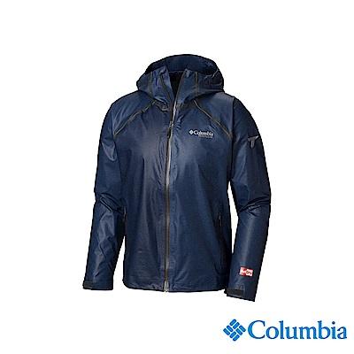 Columbia 哥倫比亞 男款-鈦 OD防水外套-深藍 UWE09360NY