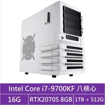 (無卡分期12期)技嘉Z390平台[統帥月王]i7八核RTX2070S獨顯電玩機