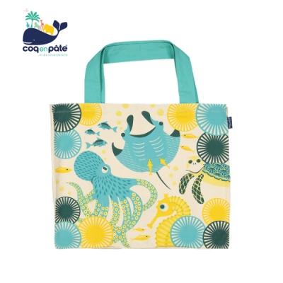 COQENPATE 法國有機棉無毒環保布包 - 無敵購物袋 海洋