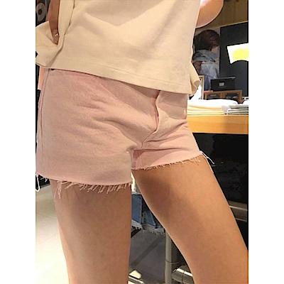 Levis 女款 短褲 501 中腰原創直筒 粉色