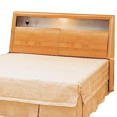 綠活居 波利略時尚5尺實木雙人床頭箱-152x32x105.5cm-免組