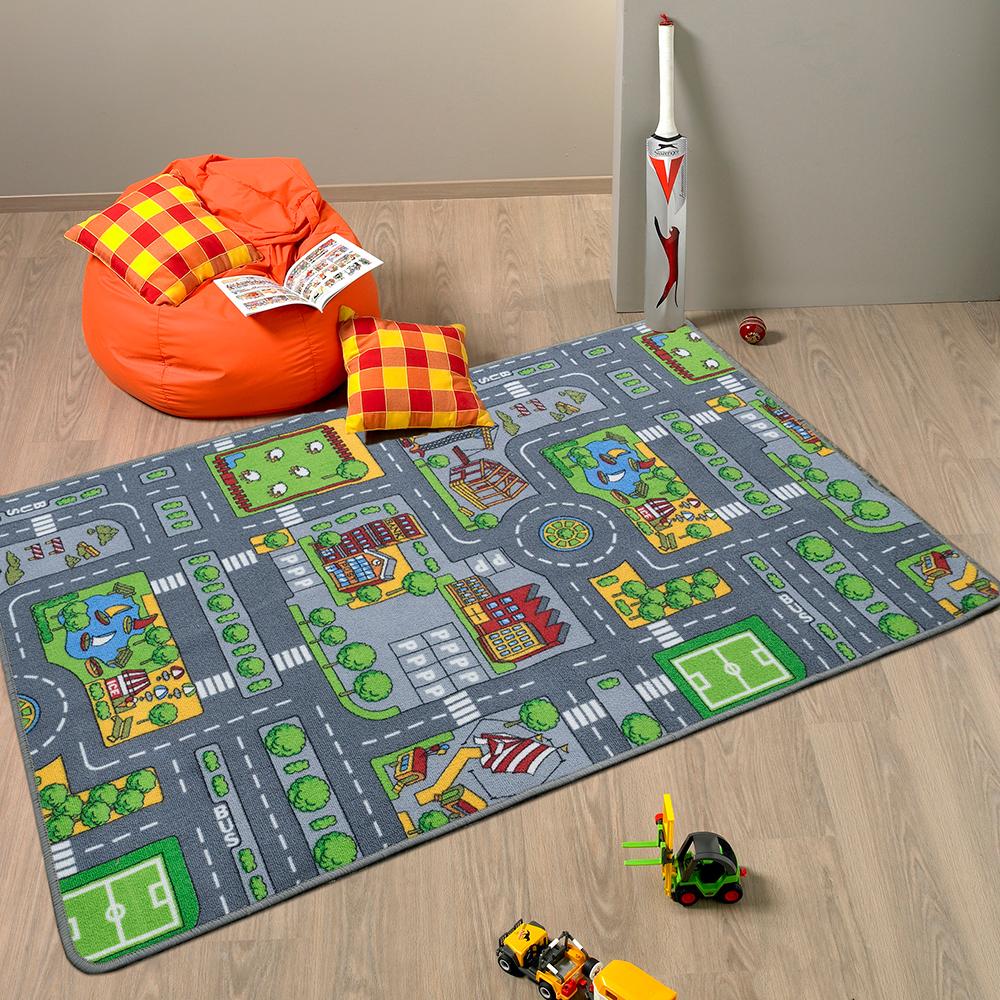 Ambience 比利時童趣地毯-城市(100x150cm)