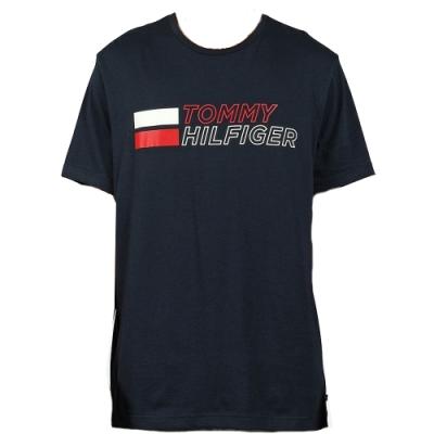 Tommy Hilfiger 復古男版圓領T恤 (深藍)