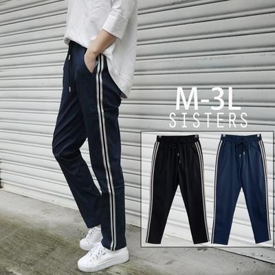 SISTERS 時髦率性的運動風格休閒褲/M-3L共二色