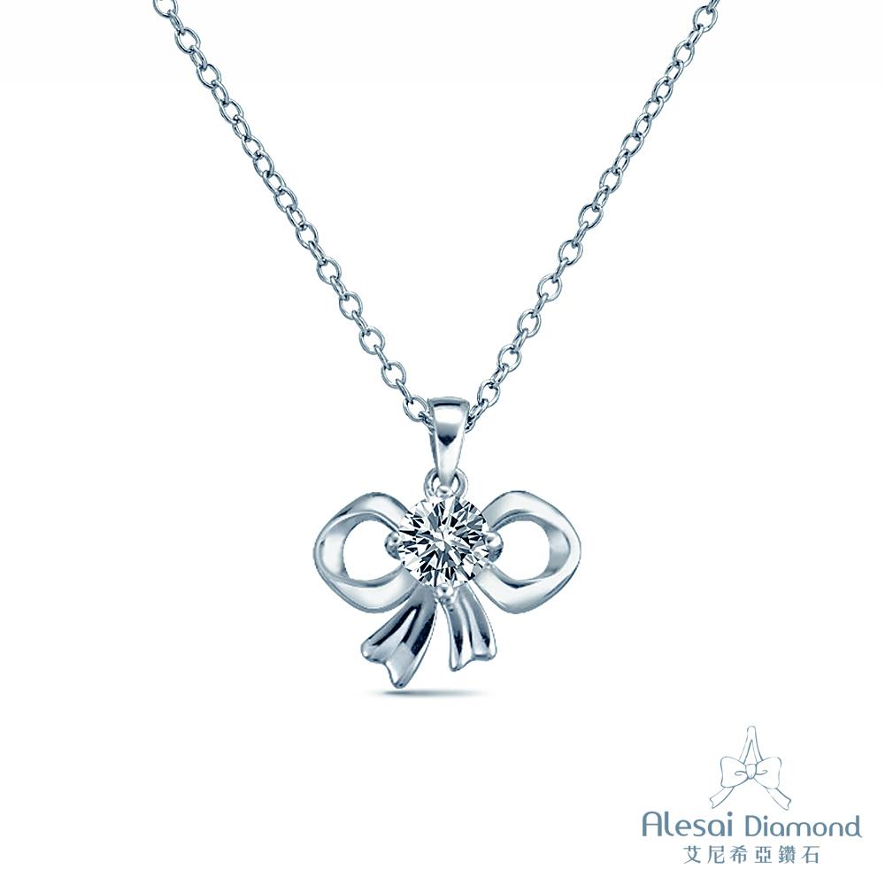 Alesai 艾尼希亞鑽石 GIA D/SI2 30分 14K 蝴蝶結鑽石項鍊