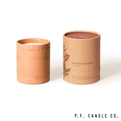 美國 P.F. Candles CO. 植物陶罐系列 雪松太平洋 手工香氛蠟燭 226g