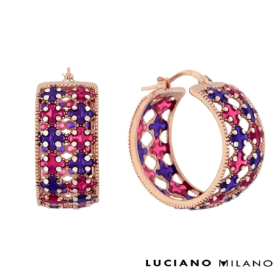 LUCIANO MILANO 日出愛情純銀耳環