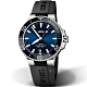Oris豪利時Aquis時間之海300米潛水機械錶-藍x黑/39.5mm product thumbnail 2