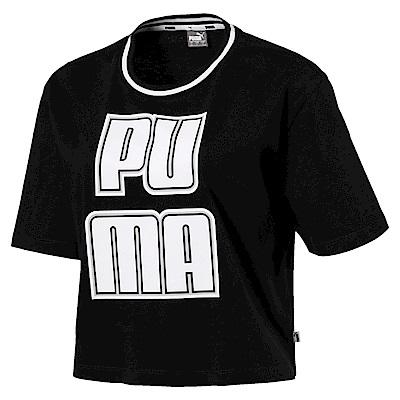 PUMA-女性基本系列Rebel Reload短袖T恤-白色-歐規