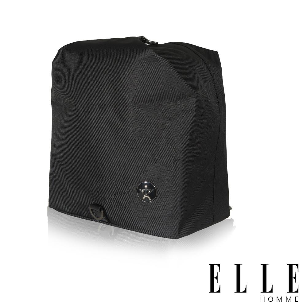 福利品 ELLE 巴黎輕旅休閒款側背小包- 黑色
