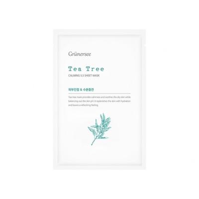 韓國Grunersee格樂喜 茶樹保濕面膜 (25mlx10片/盒)
