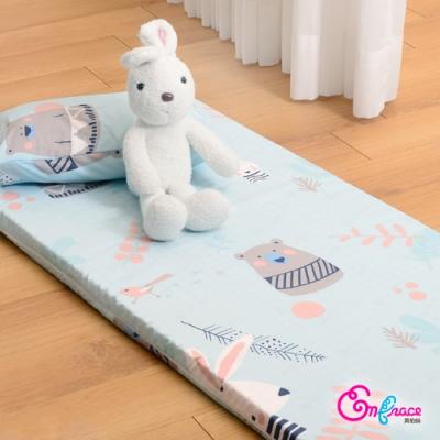 Embrace英柏絲 SPA級 Tencel天絲 嬰兒乳膠床墊+童枕組 白兔與熊 60x120x5cm 大和抗菌 吸濕排汗