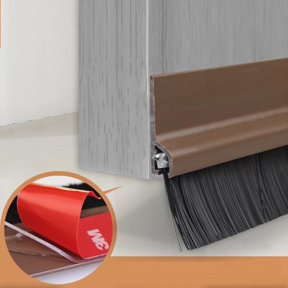 自黏式門縫防塵毛刷貼條3M背膠/可剪裁 防蚊蟲 防風貼條