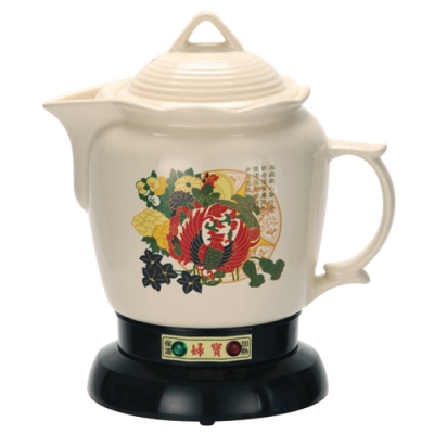 三代婦寶3.8L彩繪陶陶瓷煎藥燉補電壺