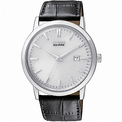 CITIZEN星辰 光動能 雅痞時尚腕錶(BM7190-05A)-銀/40mm