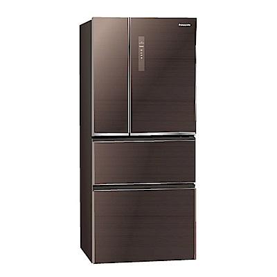 Panasonic國際牌610L玻璃四門變頻冰箱 NR-D619NHGS