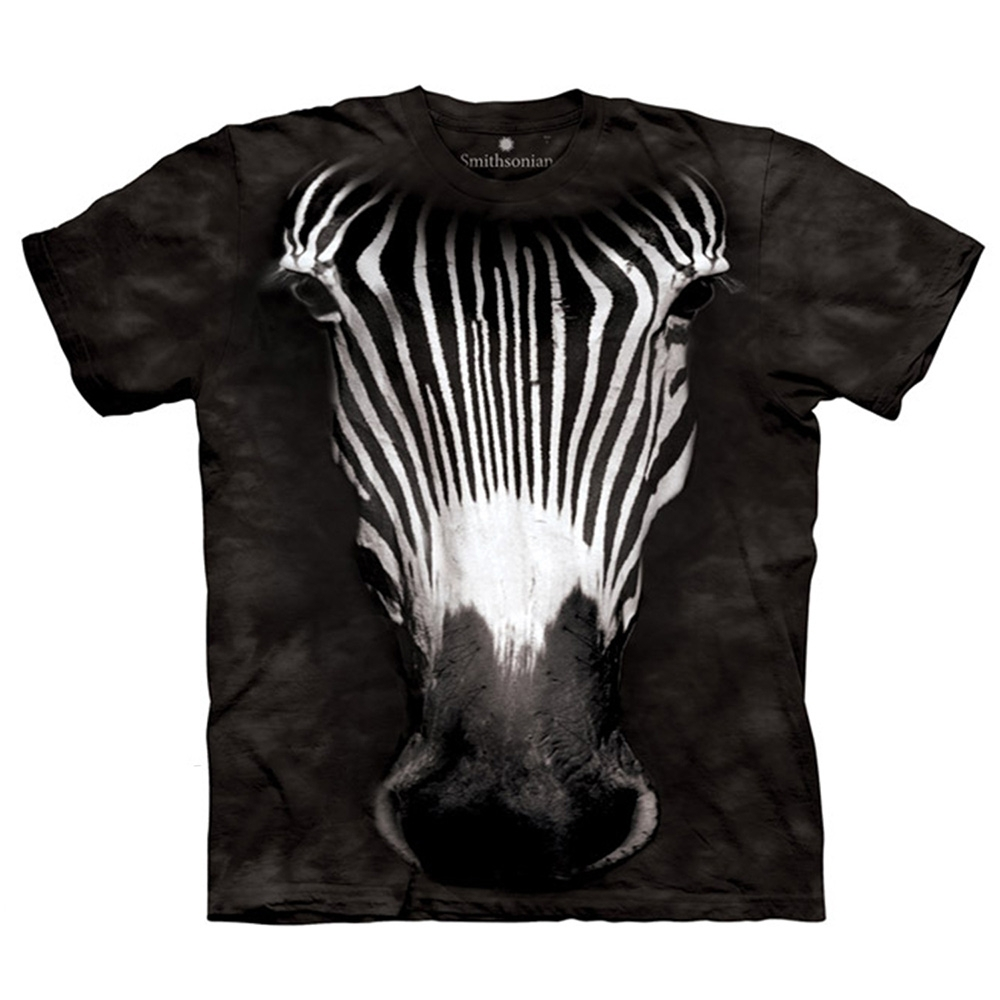 摩達客-美國The Mountain 細紋斑馬臉 兒童版純棉環保短袖T恤