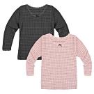吸濕發熱點點女衛生衣-粉紅色/灰色-1937-2件組混色銷售隨機出貨