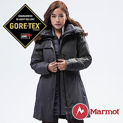 【Marmot】女 West GORE-TEX二件式外套『黑』45460