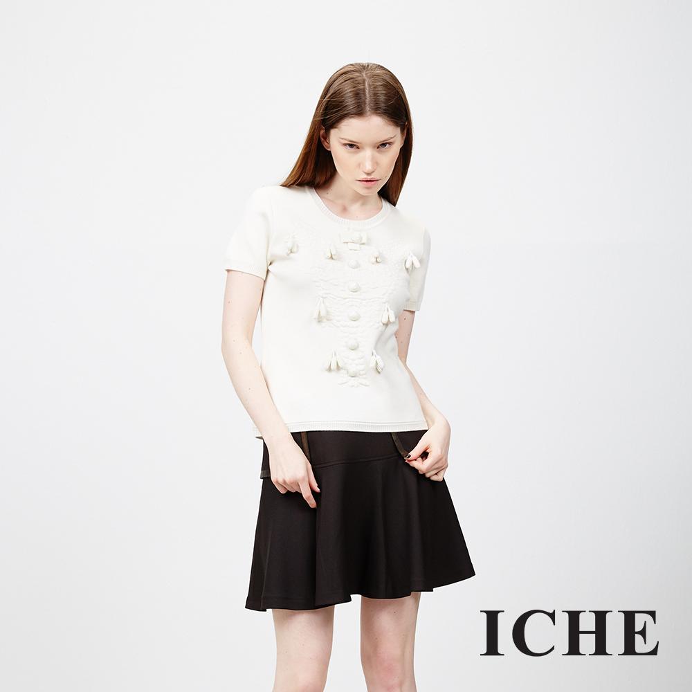 ICHE 衣哲 拼接造型圓裙