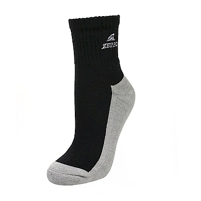 【ZEPRO】男子竹炭運動短襪-黑灰