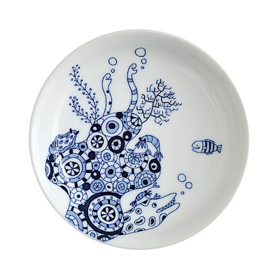 Natural69 波佐見燒 CocoMarine系列 前菜碟 13cm 海鰻 日本製
