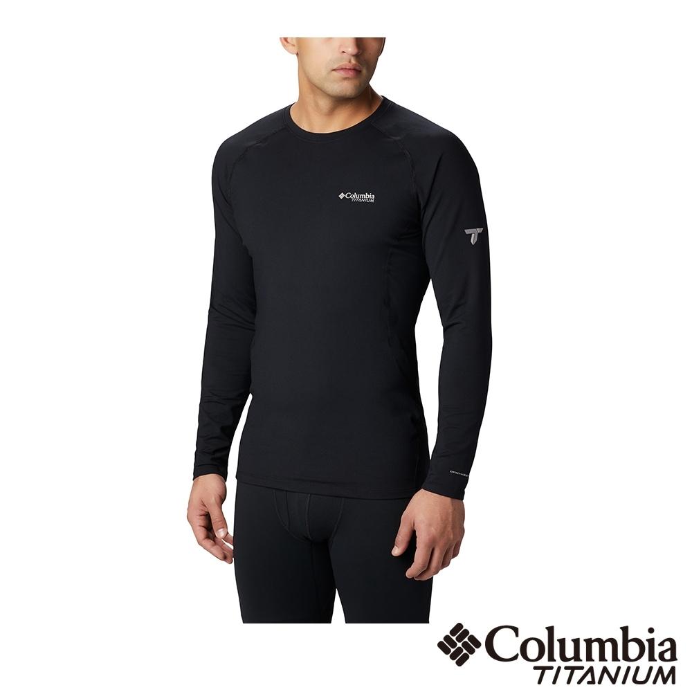 Columbia 哥倫比亞 男款- 鈦Omni HEAT3D鋁點保暖快排上衣-黑
