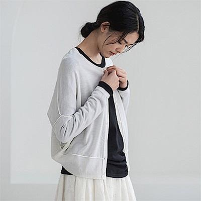旅途原品_知己_原創設計美麗諾羊毛開衫-乳白