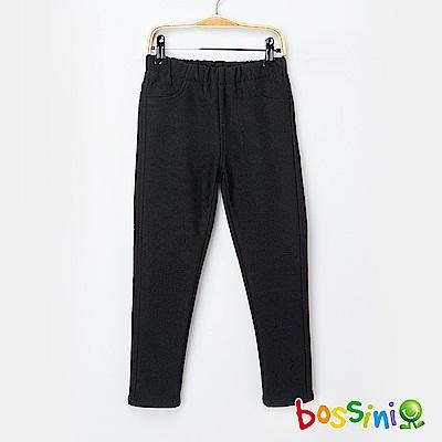 bossini女童-厚刷毛超彈窄管褲01黑
