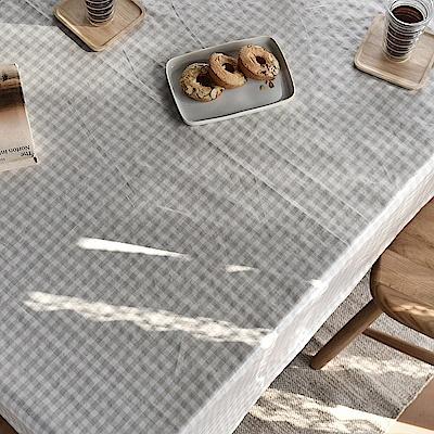 完美主義 米黃格紋防水桌巾/餐桌巾/餐桌墊/蓋布/桌布/韓國製-130x180cm4人桌