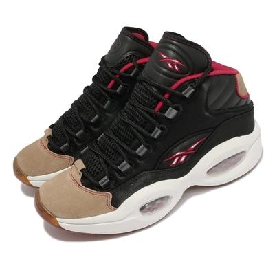 Reebok 籃球鞋 Question Mid 運動 男鞋 海外限定 避震 包覆 球鞋 穿搭 黑 白 H00847