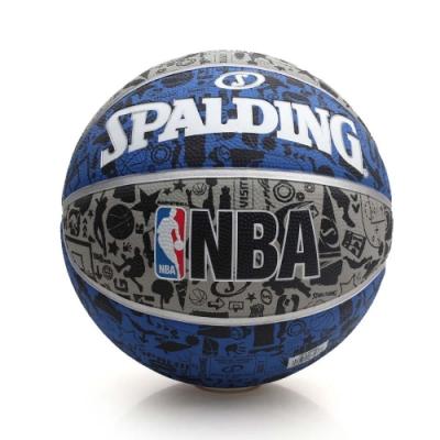 SPALDING NBA 塗鴉系列 籃球 灰藍黑