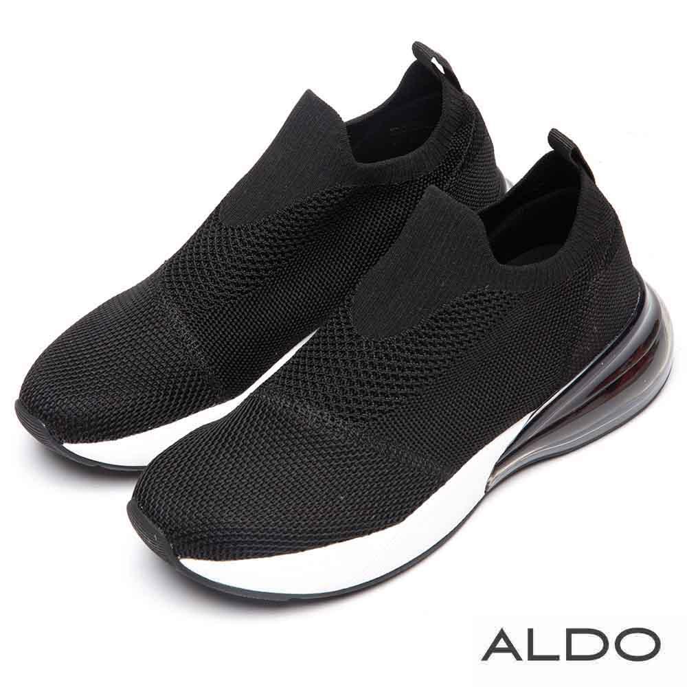 ALDO 原色舒適網布果凍氣墊厚底休閒鞋~尊爵黑色