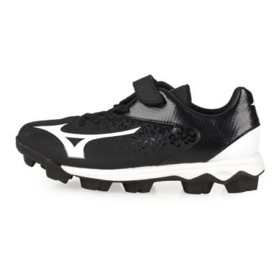 MIZUNO 兒童棒壘球鞋-WIDE SELECT NINE Jr. 黑白