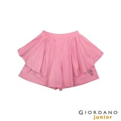 GIORDANO 童裝荷葉邊可愛印花褲裙-26 薔薇粉紅