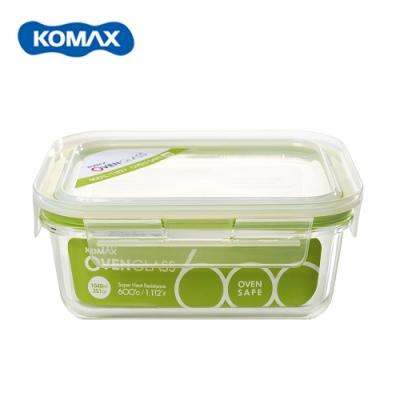 韓國Komax 扣美斯耐熱玻璃長型保鮮盒(烤箱.微波爐可用)1040ml