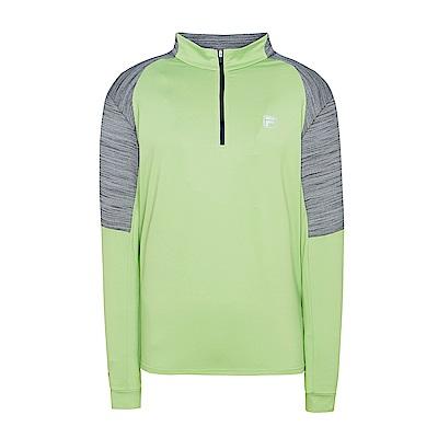 FILA男抗UV吸濕排汗T恤-果綠 1TES-5300-LN