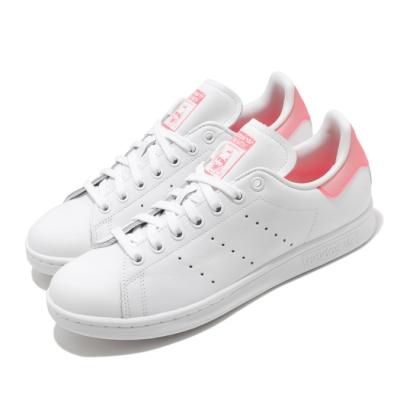 adidas 休閒鞋 Stan Smith 復古 低筒 女鞋 愛迪達 三葉草 史密斯 老人頭 穿搭 白 粉 FU9649