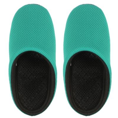 AC Rabbit 低均壓氣墊拖鞋(馬卡龍色系)-湖水綠