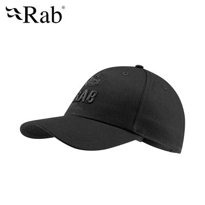 【英國RAB】Feather Cap 休閒棉質棒球帽 黑色 #QAB12