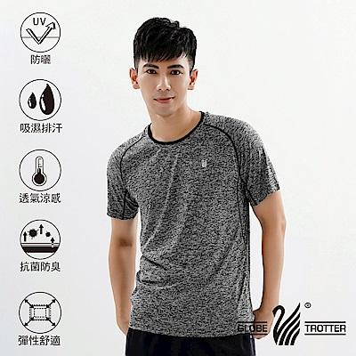 【遊遍天下】MIT男款透氣吸排抗UV速乾運動圓領衫GS20007黑灰