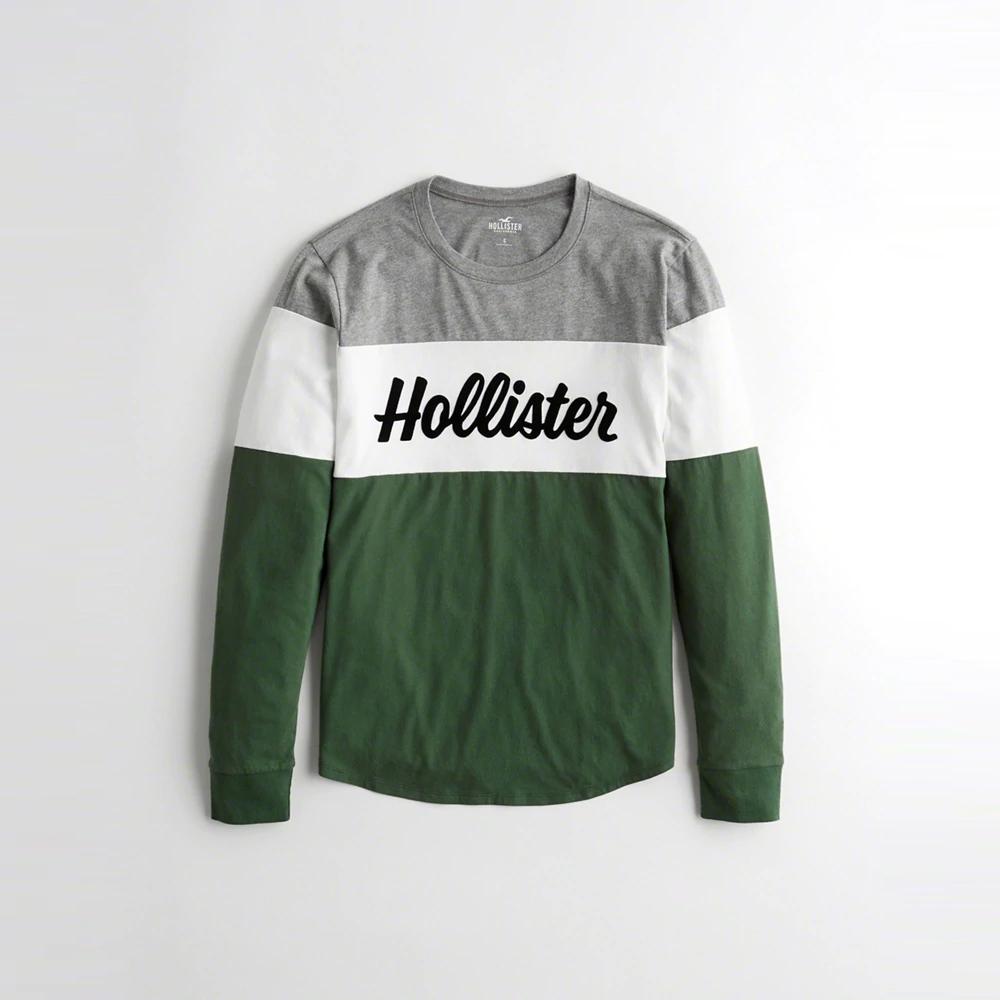 Hollister HCO  長袖 T恤 綠1081