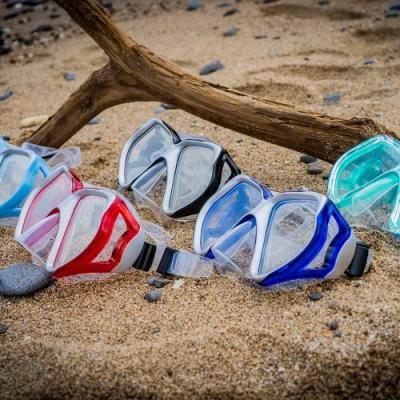 AROPEC 雙色流線加大鏡片雙面鏡 Butterfly蝴蝶.自由潛水面鏡浮潛蛙鏡
