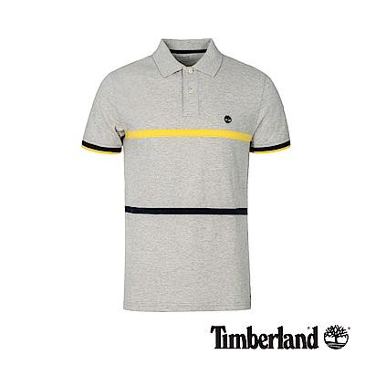 Timberland 男款灰色撞色修身短袖POLO衫 A1XG8