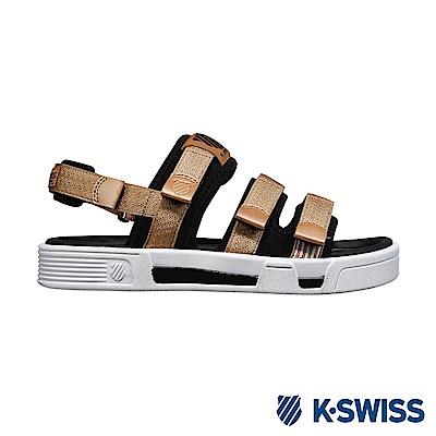 K-Swiss Trini Strap Sandal 休閒涼鞋-女-香檳金/黑