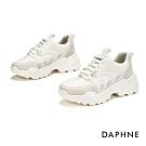 達芙妮DAPHNE  休閒鞋-透氣舒適潮流厚底休閒運動鞋-白