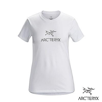 Arcteryx 始祖鳥 24系列 女 ArcWord 有機棉 短袖休閒Tee 白