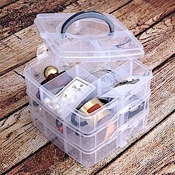 【Incare】自由拆裝-分隔收納盒(小號15*12*15/3色可選)-2入組