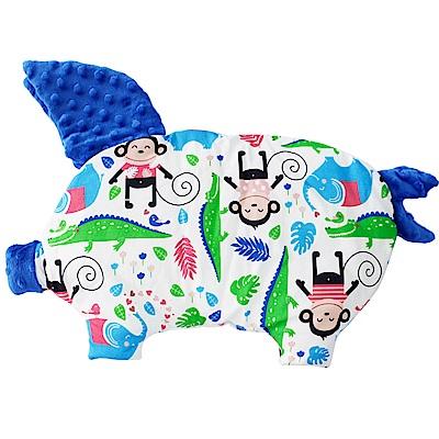 La Millou 豆豆小豬枕-歡樂拉拉猴(加勒比海藍)