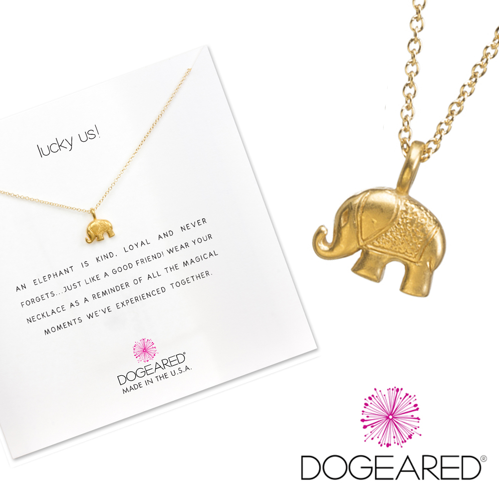 Dogeared 快樂大象 happy elephant 好運健康 金項鍊 附原廠盒 @ Y!購物